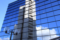 Office  building and reflection in its windows Stock Photography