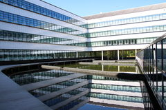 Office. Building in reflection on the water Royalty Free Stock Photo