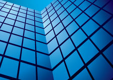 Office building reflection wide Royalty Free Stock Images