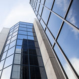 Office building and reflections of clouds Royalty Free Stock Image