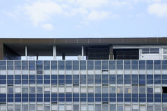 Office building with roof shelter Stock Photos