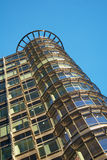 Office building, round corner. Office building in Canary Wharf Stock Photography