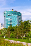 Office building of russian oil company Rosneft in summertime Stock Image