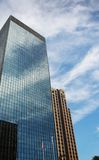 Office Building and Sky. Blue sky reflected in modern office building Royalty Free Stock Photography