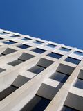 Office building and sky. White office building Royalty Free Stock Images