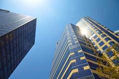 Office building on sky background Стоковые Изображения