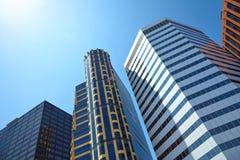 Office building on sky background Στοκ Εικόνες