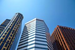 Office building on sky background Стоковая Фотография RF