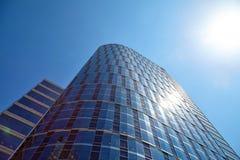 Office building on sky background Стоковое Изображение