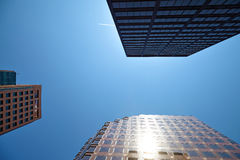 Office building on sky background. Stock Photography