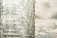 Office building and sky with clouds Stock Photography