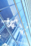 Office building and sky reflection Stock Image