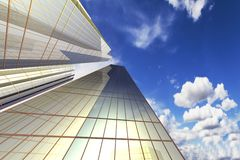 Office Building. Skyscraper against the sky, the business quarter Stock Illustration