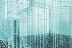 Office Building, Skyscraper against the sky, the business quarter. 3d model Stock Photos