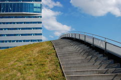 Office building with a stairway. And a sky Royalty Free Stock Photo