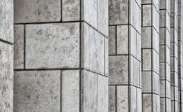 Office Building Stone Pillars stock image