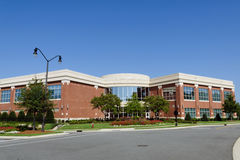 Office building in suburban area royalty free stock image