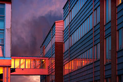 Office building at sunset Royalty Free Stock Photography