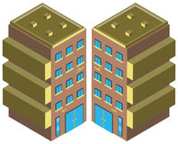 Office building from two different angles Royalty Free Stock Photography