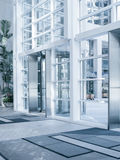 Office building. View of modern blue colored contemporary office city building  fragment Stock Photography