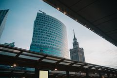 Office building in Warsaw stock photo
