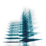 Office building on white royalty free stock images