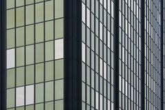 Office building window pattern overcast day Royalty Free Stock Photography