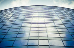 Office building windows. The windows of an office building reflecting the sky Royalty Free Stock Photo