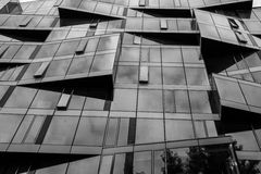 Office building windows with angles Stock Photo