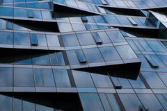 Office building windows with angles Stock Image