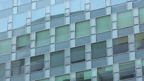 Office building windows, exterior view, panning stock video