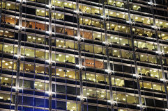 Office building windows at night Royalty Free Stock Image