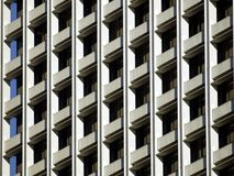 Building Windows Pattern. Office building windows pattern in the sunset. Los Angeles, CA Stock Image