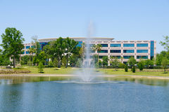 Office Building With Fountain Royalty Free Stock Image