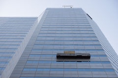 Office Building With Window Cleaning Unit Royalty Free Stock Photography