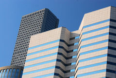 Office Buildings. Modern office buildings in a city center Royalty Free Stock Image
