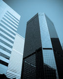 Office buildings. With blue tint Royalty Free Stock Photography