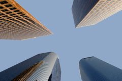 Office Buildings. Four office buildings in Los Angeles Stock Images