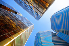 Office buildings. Tall modern office buildings in big city Stock Photography