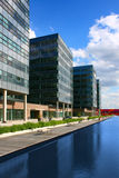 Office buildings. Three office buildings along river Stock Photography