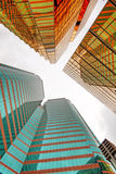 Office buildings. In hong kong Royalty Free Stock Photo