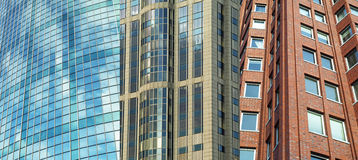 Office buildings. Three different type of tall buildings in Rotterdam The Netherlands Stock Image