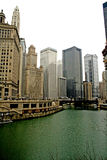 Office Buildings. In downtown Chicago Stock Photography