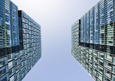 Office buildings. Two office buildings, wide view Stock Photo