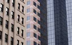 Office buildings. In a big city from different time periods Stock Photos
