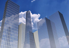 Office buildings. 3d render royalty free illustration