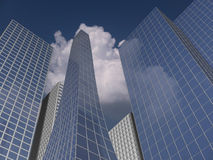 Office buildings. 3d render Royalty Free Stock Photo