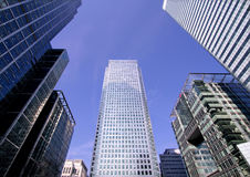 Office Buildings. In Canary Wharf Royalty Free Stock Images
