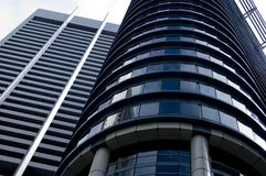 Office Buildings. Contrasting office buildings in Singapore Royalty Free Stock Images