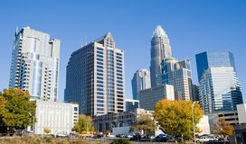 Office Buildings. Highrise office buildings in Charlotte North Carolina Royalty Free Stock Photo